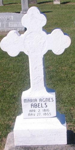Maria Agnes <I>Hellman</I> Abels