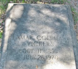 Ethelyn Lamar <I>Coleman</I> Vickers