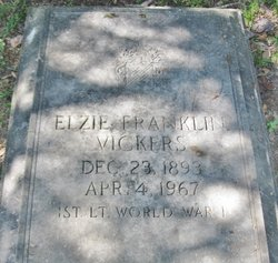 Elzie Franklin Vickers