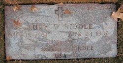 Ruby W Biddle