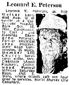 Leonard Edwin Peterson
