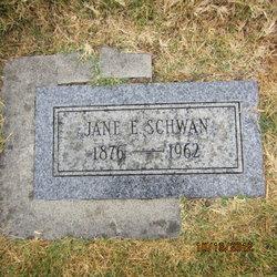 Jane <I>Eccleston</I> Schwan