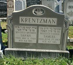 Sarah Rivkah <I>Shalek</I> Krentzman