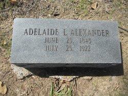 Adelaide Louisa <I>Carter</I> Alexander
