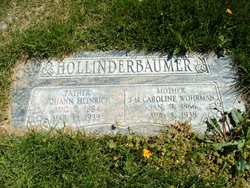 J. M. Caroline <I>Wohrman</I> Hollinderbaumer