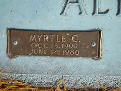 Myrtle <I>Croft</I> Allen