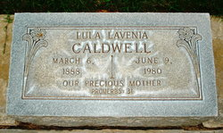 Lula Lavenia <I>Carter</I> Caldwell
