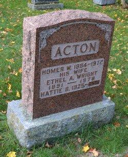 Ethel A <I>Wright</I> Acton
