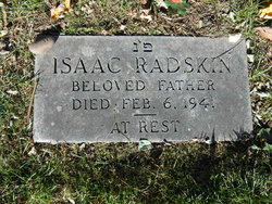 """Isaac """"Jake"""" Radskin"""