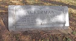 Caroline <I>Hugelman</I> Ackerman