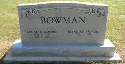 """Kenneth Monroe """"Kenny"""" Bowman"""