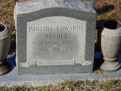 Pauline <I>Edwards</I> Snyder