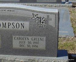 Carolyn <I>Greene</I> Thompson