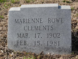 Marienne Davis <I>Rowe</I> Clements