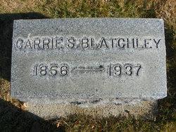 Carrie S <I>Gwinn</I> Blatchley