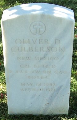 Oliver D Culberson