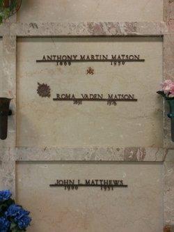 Roma <I>Vaden</I> Matson