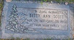 Betty Ann <I>McCulley</I> Scott