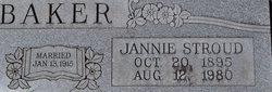 Jannie <I>Stroud</I> Baker