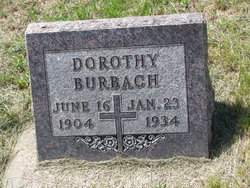 """Dorothy """"Dora"""" <I>Wieseler</I> Burbach"""