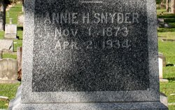Annie <I>Hill</I> Snyder
