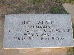 """Melvin """"Matt"""" Wilson"""
