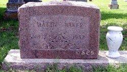 "Martha ""Mattie"" <I>Perryman</I> Baker"