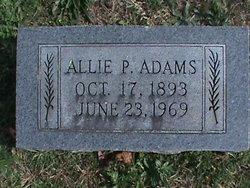 Allie <I>Patton</I> Adams