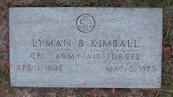 Lyman B Kimball