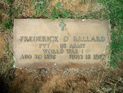 Pvt Frederick D Ballard