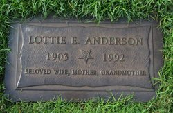 Lottie Evelyn <I>Wallace</I> Anderson