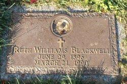 Ruth Alma <I>Williams</I> Blackwell