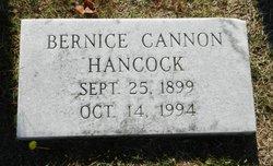Bernice <I>Cannon</I> Hancock