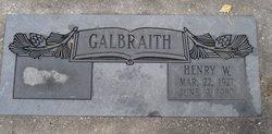 Henry Webster Galbraith