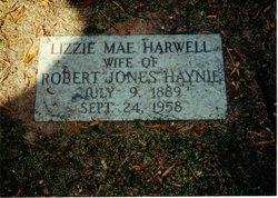 """Elizabeth Mae """"Lizzie"""" <I>Harwell</I> Haynie"""