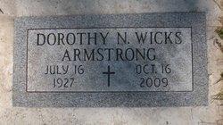 Dorothy N <I>Wicks</I> Armstrong