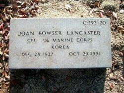Corp Joan <I>Bowser</I> Lancaster