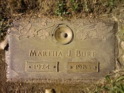 Mrs Martha Jane <I>Ensley</I> Burt