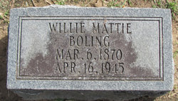 Willie Mattie <I>James</I> Boling