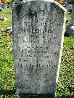 Rebecca D <I>Hollenback</I> Mills