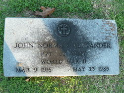 Pvt John Norman Alexander