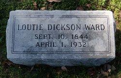 Loutie <I>Dickson</I> Ward
