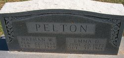Emma D <I>Starritt</I> Pelton