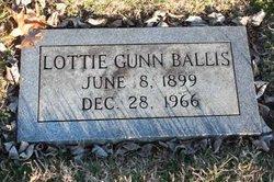 Lottie <I>Gunn</I> Ballis