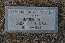Arminda J. <I>Sutton Turner</I> Coleman