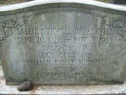 """Sarah Boyd """"Sallie"""" <I>Burwell</I> Baskervill"""