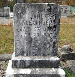 Jane <I>Nicholson</I> Alexander