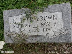 Ruth M <I>Woodcock</I> Brown