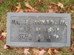 Martha <I>Hagood</I> Cox
