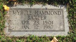 Myrtle <I>Hammond</I> Baxter